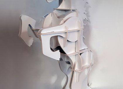Figura wykonana z płyty warstwowej z okładziną z PCW